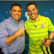 Ronaldo acompañado de Julio César